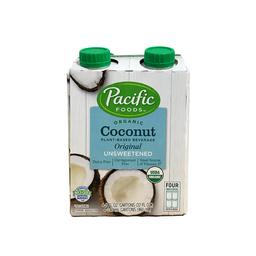 Bebida Vegetal de Coco Sin Endulzar 4 Pack Pacific 960 mL