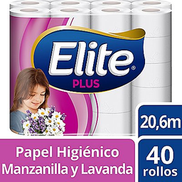 Elite Papel Hig Plus Dob Hj Manzan Lavan Bol X40