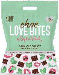 Choc Love Bites choco negro con nibs de menta