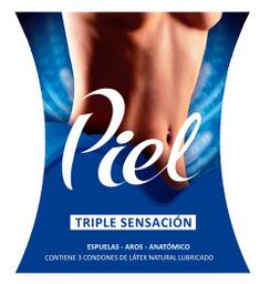 Piel Preservativo 3un Triple Sensacion