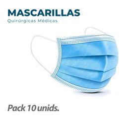 10 Mascarillas Quirurgicas Medicas