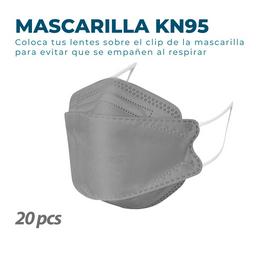 20 Mascarillas KN95 Fish Nano Gris