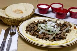 Shawarma con Humus