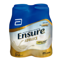 Complemento Alimenticio Ensure Advance Vainilla 237 mL X 4