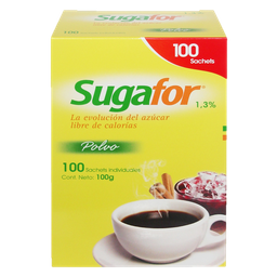Endulzante Artificial Sugafor Tabletas Sobres 100 U