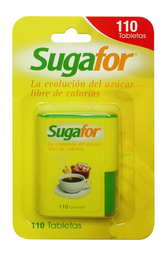 Endulzante Artificial Sugafor Tabletas en Dispensador 110 U