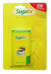 Endulzante Artificial Sugafor Tabletas en Dispensador 330 U