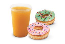 Desayuno Jugo y Donuts