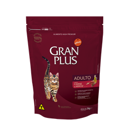 Alimento Para Gato Gran Plus Adulto Carne & Arroz 3 Kg
