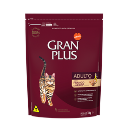 Alimento Para Gato Gran Plus Adulto Pollo & Arroz 3 Kg