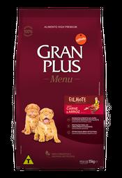 Alimento Para Gato Gran Plus Cachorro Carne & Arroz 15 Kg