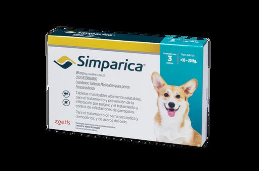 Tratamiento Antipulgas Simparica 40 mg 3 Tabletas