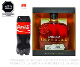Ron Barcelo Imperial 750ml +Coca Cola 1.5Lt