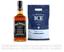 Whisky Jack Daniel's 750ml +Hielo Artisan 3 Kilos