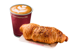 Combo Cappuccino y Croissant Parmesano