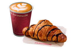 Combo Cappuccino y Croissant de Chocolate