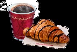 Combo Café y Croissant de Chocolate