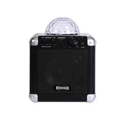 Caja Activa Aurax Bluetooth Con Luces Karaoke At04