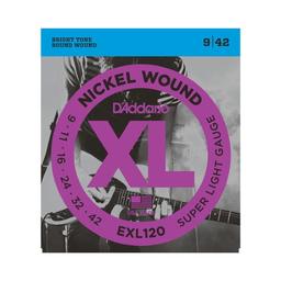 Cuerdas Guitarra Daddario Eléctrica 9/42 Exl120
