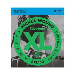 Cuerdas Guitarra Daddario Eléctrica 8/38 Exl130