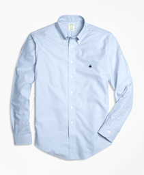 Camisa Sport Non Iron Oxford Milano Fit Light Blue