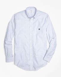 Camisa Sport Non Iron Oxford Regent Fit Blue/White Stripe