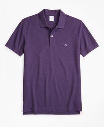 Polo Hombre Slim Fit Supima® Cotton Performance Dark Purple