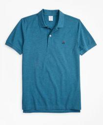 Polo Hombre Slim Fit Supima® Cotton Performance Turquoise/Aqua