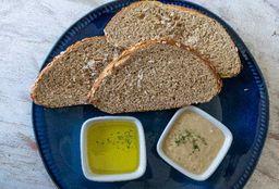 Tostadas con Hummus