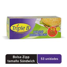 Bolsas Zipp Triple B Chicas 16.5x14.9 cm 53 U
