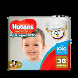 Pañal Huggies Natural Care Ajuste Perfecto Niño XXG 36 unid