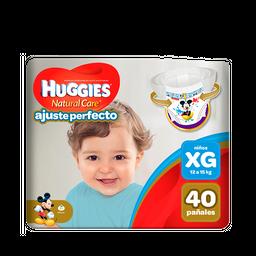 Pañal Huggies Natural Care Ajuste Perfecto Niño XG 40 unid
