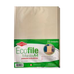 File Manila A4 Ecofile Pqx25