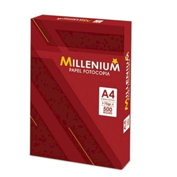 Papel Fotocopia Millenium 75Gr A-4 Pqtx500