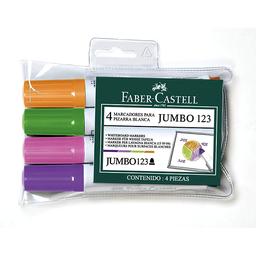Plumón 123 Para Pizarra Punta Gruesa Faber Castell En Colores