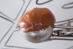 Bola de Helado de Chocolate Vegano