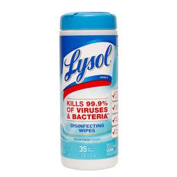 Desinfección De Pisos Lysol Wipes Scent Ocean Fresh 220 g