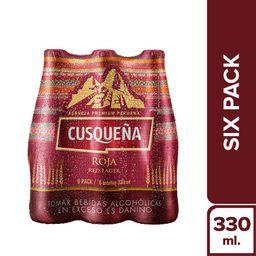 Cusqueña Cerveza Red Lager Botella 6P