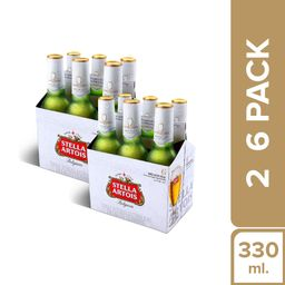 Stella Artois Six Pack Bot. 330Ml X2