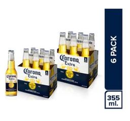Corona Six Pack Botella 355Ml X2