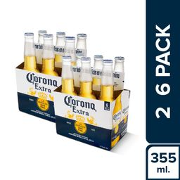 Corona Six Pack Botella 355Ml X2