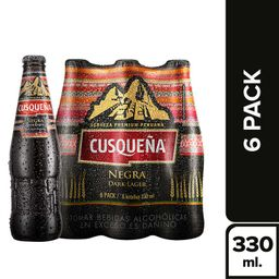 Cusqueña Six Pack Malta Botella 330 Ml