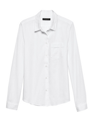 Banana Republic Blusa Quinn Oxford Blanco