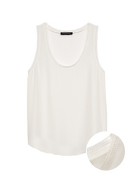 Banana Republic Blusa Picot Tanks Blanco
