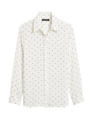Banana Republic Blusa Dillon Classic Blanco