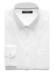 Banana Republic Camisa Camden Standard-Fit Non-Iron Dress Blanco