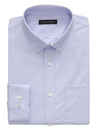 Banana Republic Camisa Slim-Fit Tech-Stretch Cotton Azul