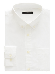 Banana Republic Camisa Slim-Fit Tech-Stretch Cotton Blanco