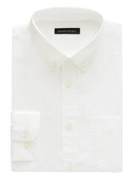 Banana Republic Camisa Slim-Fit Tech-Stretch Cotton Blanco