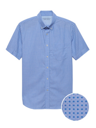 Banana Republic Camisa Lp Print Shirt Azul